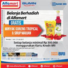 Minyak Goreng Di Alfamart Hari Ini alfamart promo bri card gratis minyak goreng sirup giladiskon
