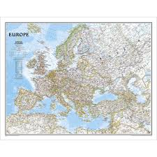 Geographical Map Of Europe by Europe Classic Wall Map National Geographic Store
