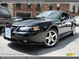 2003 Black Mustang Black 2003 Ford Mustang Gt Convertible Dark Charcoal Interior