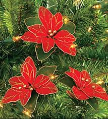 Christmas Decorations Online Ebay by Poinsettia Christmas Tree Glitter Ornaments Decor Flower Xmas 24
