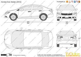 the blueprints com vector drawing honda civic sedan