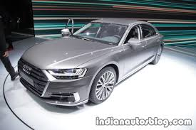 2018 audi a8 showcased at iaa 2017 in frankfurt live images