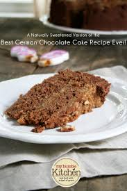 a naturally sweetened version of the best german chocolate cake