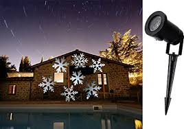 Outdoor Projection Lights For Christmas Julyfire Moving Snowflakes Projector Light 4w White Projection