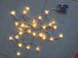 warm white string fairy lights timewanderer star warm white led string fairy light aa battery
