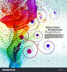 color paint splashes gradient vector background stock vector