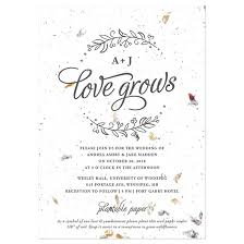 plantable wedding invitations seeds of plantable wedding invitation plantable wedding