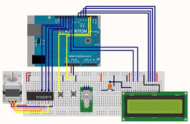 stepper motor control system based on arduino with uln2003 chip