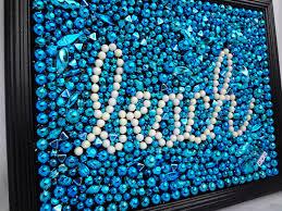 original collage beach art framed mardi gras bead mosaic