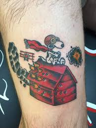 snoopy and red baron tattoo by keelhauled mike of black an u2026 flickr