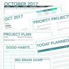 printable project planner and calendar october 2017 jewels branch