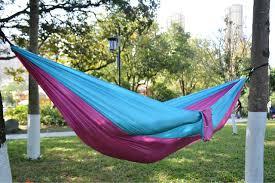 cherainti parachute nylon hammock with ropes u0026 carabiners