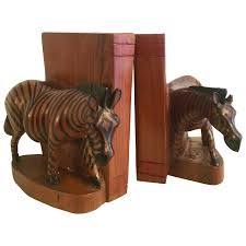 Dragon Bookends Pair Of Hand Carved Zebra Bookends From Kenya For Sale At 1stdibs