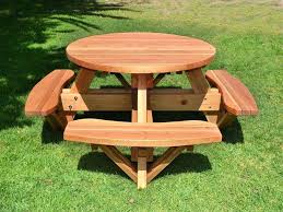 heavy duty round picnic table round wooden garden tables beer garden furniture brown wooden beer