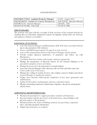 Sample Resume Objectives Property Management by Assistant Property Manager Resume Objective Free Resume Example