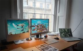 Desk Setup 30 Enviously Cool Home Office Setups Designer Daily Graphic And