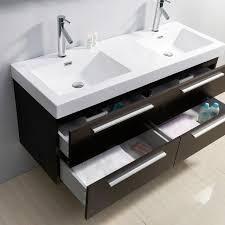 54 Bathroom Vanity Cabinet Abodo 54 Inch Double Sink Plum Bathroom Vanity