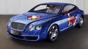 bentley coupe gold romero britto u0027s bentley continental gt news flower power returns