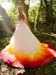 ombré wedding dress buy a line square chapel ombre wedding dress with appliques