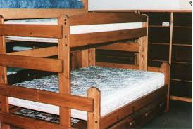 Rustic Bunk Bed Plans Twin Over Full by Bedz King Mission Twin Over Full Bunk Bed With Trundle Arafen