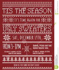 ugly christmas sweater party invitation stock vector image 61581167