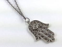 hamsa necklace silver images Long necklace silver hamsa necklace minimalist door simplejshop jpg
