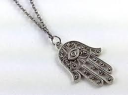 hamsa necklace silver images Long necklace silver hamsa necklace minimalist door simplejshop jpg