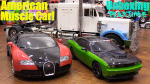 bugatti truck rc cars playtime dodge challenger bugatti and semi hauler