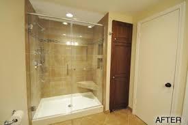 Fiberglass Bathroom Showers Fiberglass Base Tile Walls In Wauwatosa Wi Traditional
