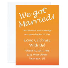 post wedding invitations we got married post wedding party invitation lovely post wedding