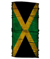 Colors Of Jamaican Flag Jamaican Flag Neck Gaiter Face Shield Born Of Water