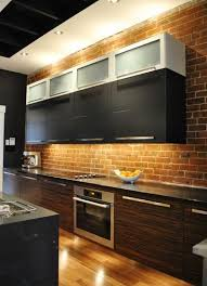 kitchen brick backsplash 74 stylish kitchens with brick walls and ceilings digsdigs