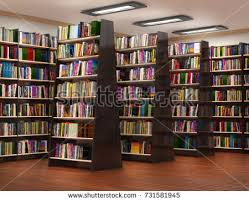 3d Bookshelf Bookshelf Book Store 3d Illustration Stock Illustration 731581945