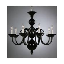 Bohemian Glass Chandelier Weiss And Biheller Eight Light Black Bohemian Art Glass Chandelier
