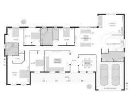 floor layout plans modern floor plan friday u shaped home at acreage house designs