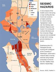 seattle flood map in the event of a tsunami earthquake or eruption of mount