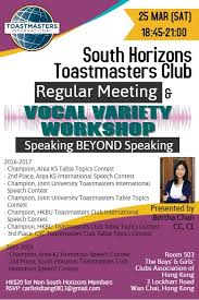 Table Topics Toastmasters South Horizons Toastmasters Club