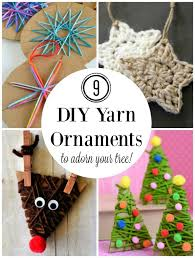 9 diy yarn ornaments to adorn your tree make and takes