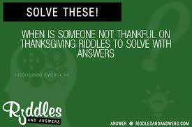 thanksgiving day riddles with riddles archives 101 jokes