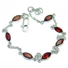 jewelry silver handmade bracelet images Stunning garnet 925 sterling silver handmade bracelet 4 60g jpg&a