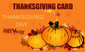 thanksgiving day card free vector 123freevectors