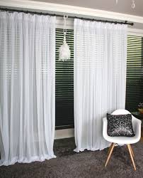 romantic white sheer curtain drapery voile panel