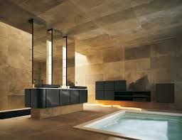 excellent bathroom ideas with black washbasin and natural stone