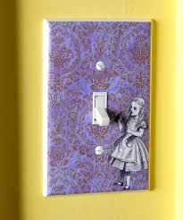 light switch plates spaces eclectic with alice in wonderland light