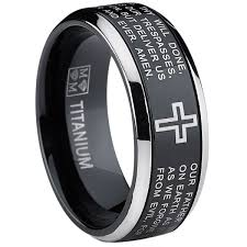 mens spinner rings oliveti black titanium men s lord s prayer spinner ring free