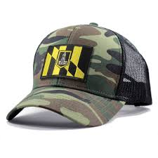 Baltimore Flag Homeland Tees Baltimore Flag Hat Army Camo Trucker