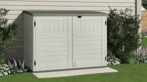 Backyard Storage Ideas by Outdoor Shed At Lowes Suncast Glidetop Suncast Sheds