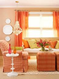 Bright Orange Curtains Wall Colors Of Covers Living Room U2013 100 Trendy Interior Ideas For