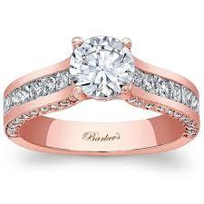 princess cut gold engagement rings barkev s 14k gold princess cut channel set ring