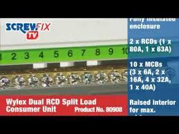 screwfix wylex 10 way fully insulated dual rcd consumer unit youtube